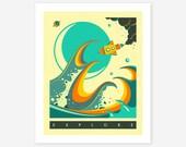 EXPLORE (Giclée Fine Art Print, Photo Print or Poster Print) by Jazzberry Blue