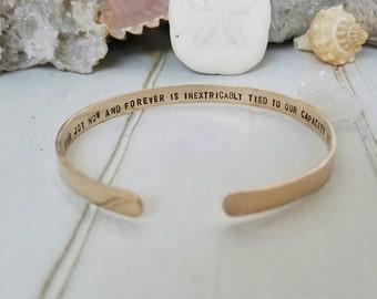 Gold Cuff Bracelet, Personalized gold bracelet, 14kt Gold Filled bracelet, Custom gold bracelet, Cuff bracelet, Hidden message bracelet