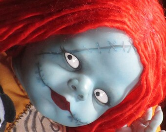 """Reborn Art Doll Sally Inspired By The Movie """"The Nightmare Before Christmas"""" by Disney and Tim Burton"""