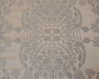 2.625 Yards Knoll Luxe Upholstery Fabric Mepal Damask in Nickel Silver K12315 (PZ10)