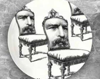 man chair melamine plate