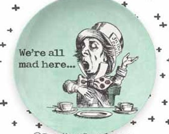The Mad Hatter II melamine plate