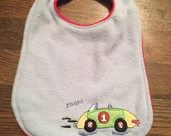 Upcycled Bib from Car Blanket