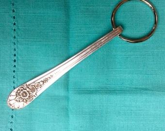 Vintage Silverware Keychain, Repurposed Silverplate