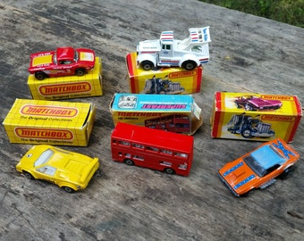 Matchbox cars with original boxes 1970s & 80s