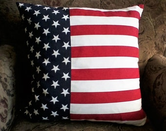 Large American Flag Pillow