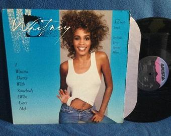 "RARE, Vintage, Whitney Houston - ""I Wanna Dance With Somebody Who Loves Me / Remix"", 12""  Vinyl Single, Pop, Soul, R&B, Diva"