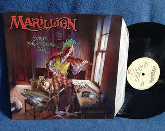 "RARE, Vintage, Marillion - ""Script For A Jesters Tear"", Vinyl LP, Record Album, Original Uk First Press, Garden Party, Psych Prog, Art Rock"