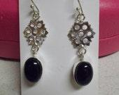 BEAUTIFUL SS Earrings-R3967-Black Onyx
