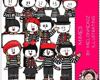 Mimes clip art - COMBO PACK
