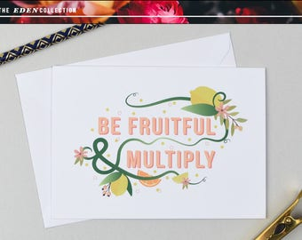 Be Fruitful A6 Greetings Card with Envelope & Seal