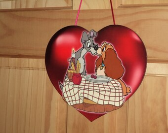 Lady & the Tramp Valentine Wall hanging