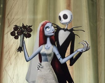 jack and sally wedding cake topper and sally cake topper etsy 16559