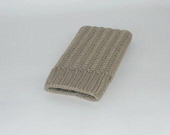 PDF tunisian crochet pattern EL OLIVAR phone case, phone sleeve, phone pouch