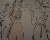 Vintage 1940's Advance 2393 Gown Sewing Pattern, Size 16 Bust 34