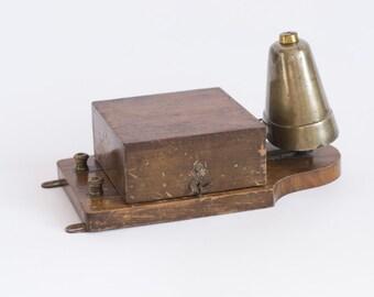 Antique Electric Bell, Brass Conical Electric Door Bell, Railway Butler Alarm Bell, 1920's Working Bell