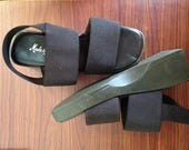 New Old Stock - Never worn - Vintage 90s - Made in Italy -  Sandals - Platform Heel Size 5.5 US