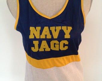Vintage Navy JAGC 90s mesh Tank Jersey