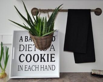 Set of 5 Black Linen Tea Towel Stone Washed Kitchen towel Dish towel Hand towel SHIPPING WORLDWIDE Pure linen Soft towel
