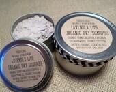 VEGAN-ORGANIC Lavender Lime Organic Dry Shampoo-works with all hair colors-No Poo-4oz. & 8oz.