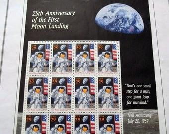 The First Moon Landing stamp sheet