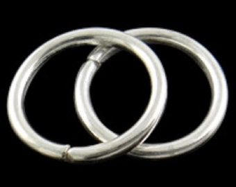25pc 20mm large silver finish jump rings-FR10