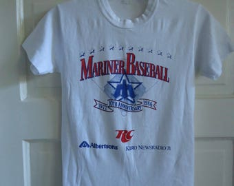 Vintage 80s SEATTLE MARINERS Youth T Shirt XXS
