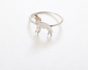 Little Wolf Ring in sterling silver, brass, and gold filled
