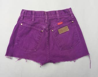 Purple jean shorts | Etsy