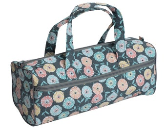 Knitting project bag, Crochet project bag, flower knitting bag, Craft storage, Knitting and Crochet accessories, Gift for knitter, UK shop