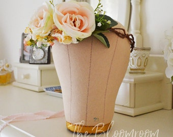 Blossom flower crown / Champagne rose / Apple blossom / Rustic flower crown / Champagne / Pink / Floral head wreath / Bridal flower crown