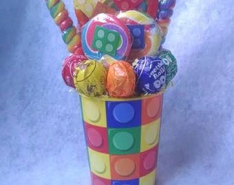 Lego Blocks Lollipop Bouquet