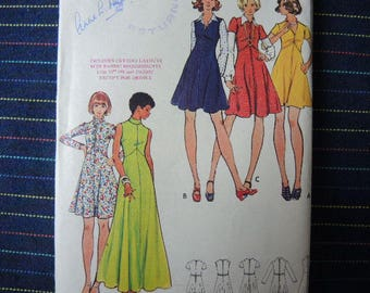 vintage 1970s Butterick sewing pattern 3041 misses dress and jumper size 14