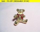 Bear brooch, fashion brooch, estate jewelry, Teddy bear, vintage, retro