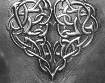 Celtic Heart in Pewter