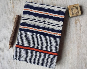 Large Chunky Hardcover African Handwoven Fabric Journal Notebook Sketchbook Jotter - A5