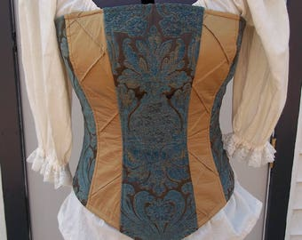 Gold, Brown, and Blue Corset