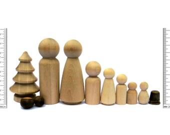 CUSTOM order for Grace ONLY Bulk Wooden Peg Dolls * Blank peg dolls DIY > wood peg people craft supplies Australia