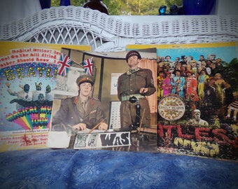 Beatles Original Album Covers ,Sgt Peppers Lonely Hearts Club Record Album Cover Only .Beatles Magical Mystery Tour Album Cover only.