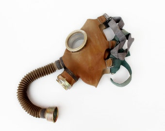 Gas mask Kids gas mask Soviet gas mask Russian gas mask Child gas mask Steampunk mask Spooky mask Scary mask Gas mask with hose
