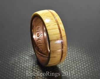 Wooden wedding rings Jameson whisky barrel Oak wood