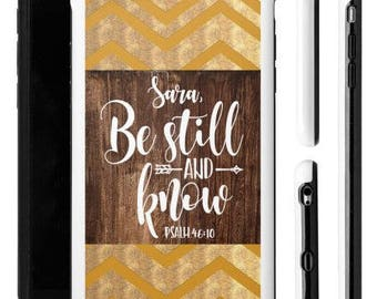 Bible Verse iPhone Case, Scripture iPhone Case, Be Still and Know, Aztec iPhone Case, Tribal iPhone Case, Christian iPhone Case, iPhone Case