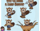 2017 Busy Beavers Clip art  Clipart Graphics  Commercial Use
