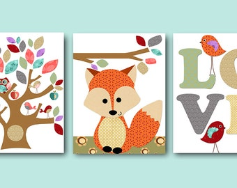 Childrens Wall Art Baby Room Decor Owls Baby Boy By