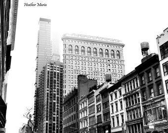Historic Architecture including the Flat Iron Building on W. 23rd St in New York, fine art photography