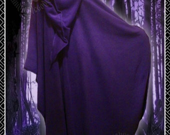 Long Poncho/Robes/Cloak in Polar Fleece, Ritual Robes, Druid, Wicca, Pagan, Festival, Witch, Pixie hoodGoth