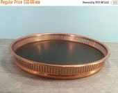SALE - Round Copper Serving / Bar Tray