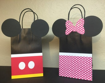 Mickey and Minnie party goody bags- set of 6