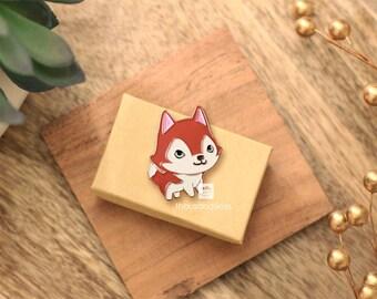 Husky Pin (Red Husky)
