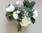 RESERVED for emm-Bridal Bouquet, Boutonniere, Hair Clip